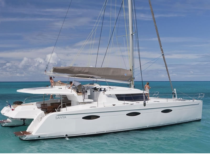 Catamaran Charter Rental - Sanya 57 - Aeolian Caribbean Islands