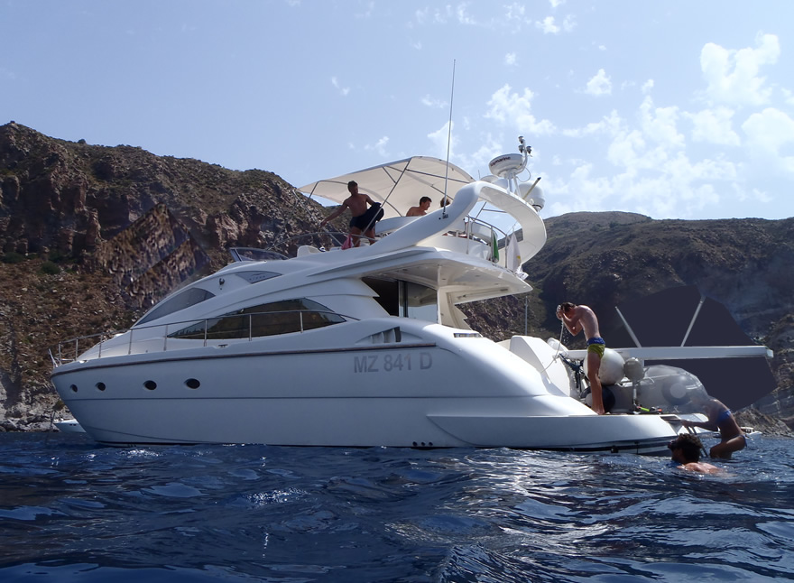 powerboat rental aeolian islands aicon 56