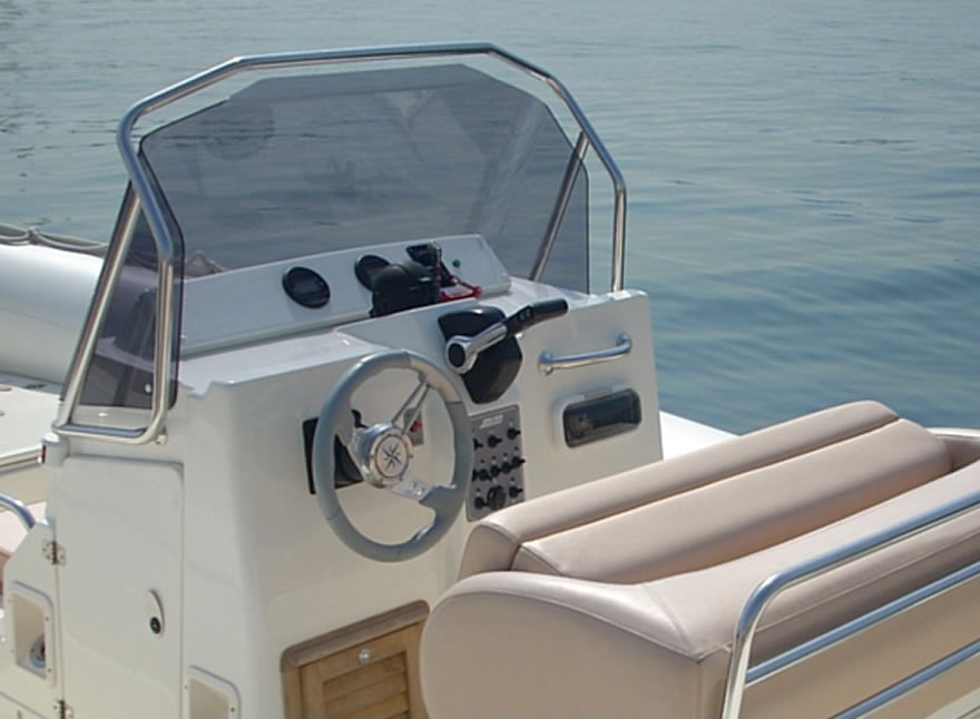 rib rental aeolian islands salina clubman 26