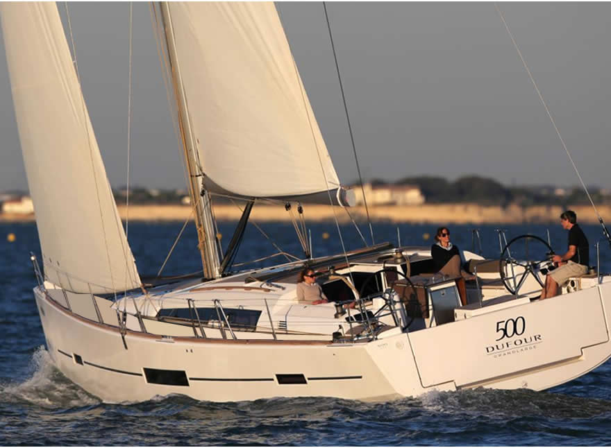 Sailboat Charter Rental - Dufour 500 holiday Aegadian Islands